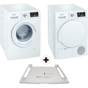 SIEMENS iQ300 WM14N1D0CH (Lavatrice) + WT43H0D0CH (Asciugatrice) + WZ20400 (Set congiunzione)