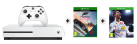 Microsoft Xbox One S + Forza Horizon 3 (Play Anywhere DLC) - 500GB - Bianco + FIFA 18, Xbox One, multilingue