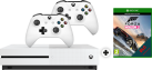 Microsoft Xbox One S + Forza Horizon 3 (Play Anywhere DLC) - 500GB - Weiss + 2 Microsoft Xbox One Wireless Controller, weiss
