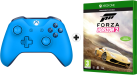 Microsoft Xbox One Wireless Controller, blue + Forza Horizon 2 [Versione francese]