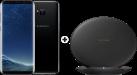 SAMSUNG Galaxy S8+ - Android Smartphone - 64 GB - Midnight Black + SAMSUNG EP-PG950 - Ladestation - Mit Schnellladefunktion - Schwarz