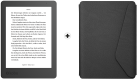 Kobo Aura - eBook-Reader - 4 GB - Schwarz + kobo SleepCover - Für kobo Aura Edition 2 - Schwarz