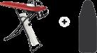 Laurastar Go+ - Bügelsystem - 1800 Watt - weiss, rot, schwarz + LAURASTAR X-Tremecover S Range, schwarz