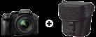 Panasonic Lumix DMC-FZ300 - Digitalkamera - 12.1 Mpix - noir + Panasonic DMW-PZH07XEK