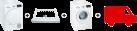 SIEMENS WT43H0D0CH - Asciugatrice - Bianco + SIEMENS WZ11410 + SIEMENS iQ300 WM14N1D0CH - Lavatrice - 2300 watt - Bianco + Pacchetto super-spensierato merce bianca Sets lavatrice