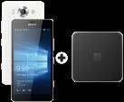 Microsoft Lumia 950 Dual SIM, weiss + Microsoft Display Dock HD-500