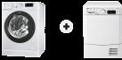 Indesit BWE 81683X WKKK CH - Lavabiancheria front - Classe di efficienza energetica A+++ - Bianco + Indesit EDPE G45 A1 ECO (EU) - Asciugatrice - Efficienza energetica A+ - Bianco