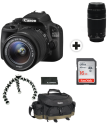 Canon EOS 100D, 18-55mm IS STM + 75-300MM + 16GB SDHC Set + Canon Outdoor Accessory Kit