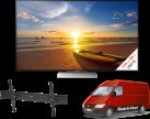 SONY KD-55XD9305B, 55, 1000 Hz, Schwarz + ISY IWH 4001 + Media Markt Powerservice Komfort Lieferung+ (TV-Wandmontage)