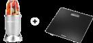 NUTRIBULLET EXTRAKTOR - 12tlg Basis Set - Silber + Trisa Perfect Weight, schwarz