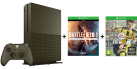 Microsoft Xbox One S Limited Edition + Battlefield 1 (DLC) - 1To - vert militaire + FIFA 17, Xbox One, multilingue