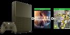 Microsoft Xbox One S Limited Edition + Battlefield 1 (DLC) - 1TB - verde militare + FIFA 17, Xbox One, multilingue