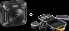 Nikon KeyMission 360 - 360° Actioncam - 23.9 MP - schwarz - abzgl. 100.- Nikon CashBack // 15.5.bis 22.8.2017 + Nikon KeyMission Toolbox - grau