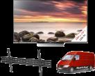 Sony KD-75XD8505B, LCD/LED TV, 75, 800 Hz, schwarz + ISY IWH 4001 + Media Markt Powerservice Komfort Lieferung+ (TV-Wandmontage)