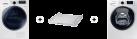 SAMSUNG WW80K6400QW/WS + SAMSUNG DV80M8214AW/WS + SAMSUNG SKK-DD
