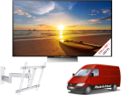 SONY KD-55XD9305B, 55, 1000 Hz, Schwarz + vogel's 2245, Weiss + Media Markt Powerservice Komfort Lieferung+ (TV-Wandmontage)