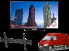 Sony KD-55X8505CB, LCD/LED TV, 55, 800 Hz, schwarz + ISY IWH 4001 + Media Markt Powerservice Komfort Lieferung+ (TV-Wandmontage)
