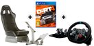 Playseat® Evolution, schwarz + Logitech G29 Driving Force + DiRT 4 - Day One Edition, PS4