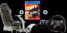Playseat® Evolution, schwarz + Logitech G29 Driving Force + DiRT 4 - Day One Edition, PS4 [Französische Version]