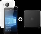 Microsoft Lumia 950 XL Dual SIM, weiss + Microsoft Display Dock HD-500