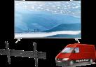 SAMSUNG UE55KS7580UXZG, LCD/LED TV, 55, 2200 Hz, Silber + ISY IWH 4001 + Komfort Lieferung+ (TV-Wandmontage)