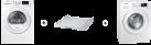 SAMSUNG WW80J5436DW/WS + SAMSUNG DV80M5010IW/WS + SAMSUNG SKK-DD