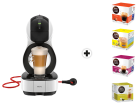 Krups Dolce Gusto Lumio - Kaffeekapselmaschine - 15 bar Pumpendruck - Weiss + 4 Packungen