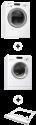Bauknecht WAE 83400 + Bauknecht TRWP 82100 + Set di montaggio