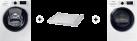 SAMSUNG WW80K6400QW/WS + SAMSUNG DV80M6210CW/WS + SAMSUNG SKK-DD