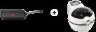 Tefal ActiFry Express Snacking - Heissluftfritteuse - 1400 Watt - Kapazität 1 kg - Weiss + Tefal Talent Grillpfanne, 26 x 26 cm