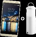 SWITEL Champ S5003D - Android Smartphone - Dual-SIM - Schwarz + cmx EBP 66 CL, weiss