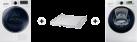 SAMSUNG WW12K8402OW/WS + SAMSUNG DV80M8214AW/WS + SAMSUNG SKK-DD