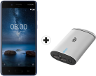 "Nokia 8 - Smartphone Android - 5.3"" / 13.5 cm - Dual SIM - Tempered Blue + ISY IAP-3103"