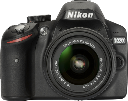 Nikon D3200, 18-55mm VR II Kit, 24.2 MP, Schwarz