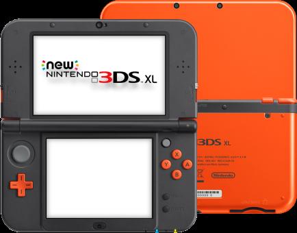 new nintendo 3ds xl orange noir allemand fran ais console nintendo new 3ds acheter bas. Black Bedroom Furniture Sets. Home Design Ideas