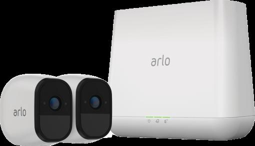 NETGEAR Arlo Pro VMS4230 - Videoserver + 2 Kameras - 802.11n - Weiss