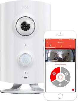Piper Classic - Home Security Wireless Cam - Caméra HD grand angle - blanc