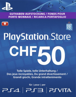 sony playstation network card chf 50 ps4 carte de. Black Bedroom Furniture Sets. Home Design Ideas