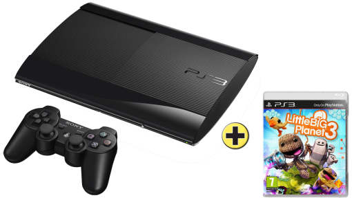 Sony PlayStation 3 12 GB + Little Big Planet 3, multilinugal