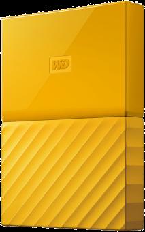Western Digital My Passport - Hard Disk esterno - Capacità 1 TB - giallo