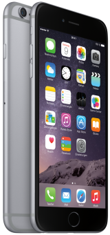 Apple iPhone 6 Plus, 64GB, spacegrau