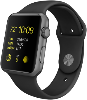 Apple Watch Sport 42mm, schwarz