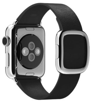Apple 38mm Modern Buckle, M, schwarz