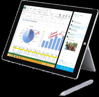 Microsoft Surface Pro 3, i5, 256 Go, Win10
