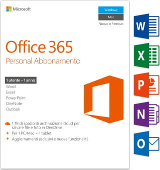 PC/Mac - Microsoft Office 365 Personal, 1 User /I