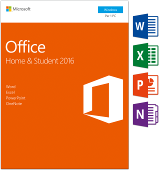 PC - Microsoft Office Home&Student 2016, 1 User /I
