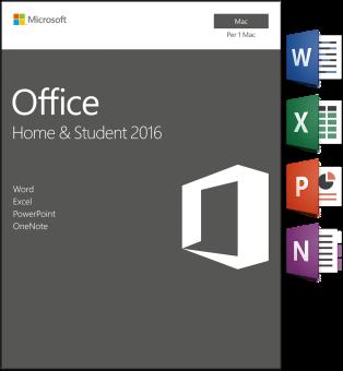 Mac - Microsoft Office Home&Student 2016, 1 User /I