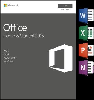Mac - Microsoft Office Home&Student 2016, 1 User /D