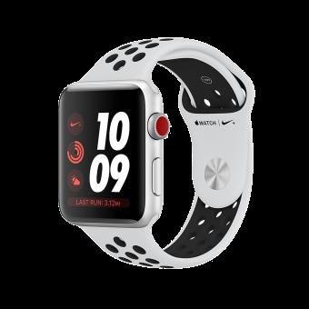 Apple Watch Nike+ - Boîtier en aluminium argent avec Bracelet Sport Nike - GPS + Cellular - 38 mm - Platine pur/Noir