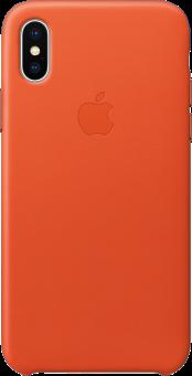 Apple Leather Case - Custodia - Per iPhone X - Arancione fiamma